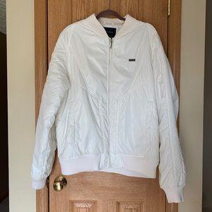 Sean John Coat / Jacket Pearl White Zip Up